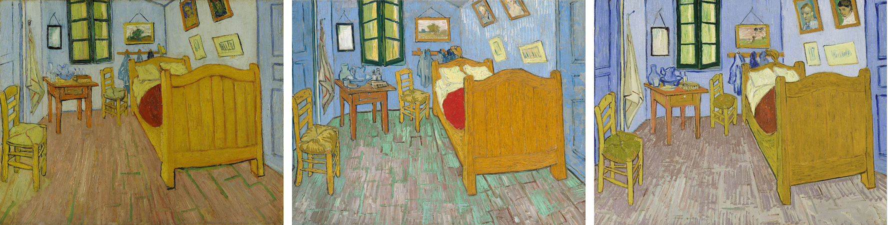 Bedroom at Arles  left to right  Figure 4 Van Gogh Museum in Amsterdam. Art History   Angel Arvello